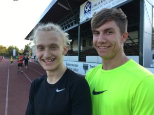 Marvin - tv - og Alex træner ofte sammen i klubben og lørdag er de begge med i Aarhus.