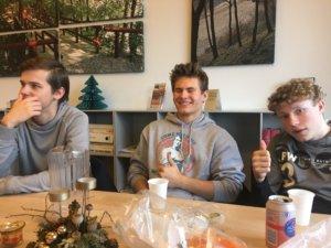 3 ATK-atleter fra Kolding KFUM Atletik og Motion. Fra venstre: Andreas Asklund, Søren Nørgaard, Mads Lunø.
