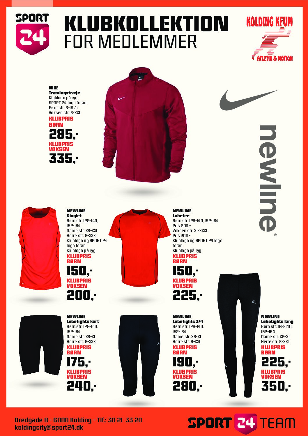 Klubtøj hos Sport 24 i Kolding
